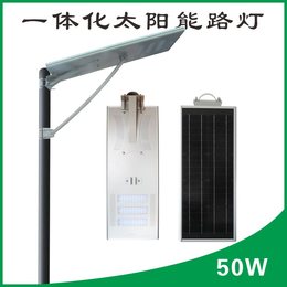 若日50W一体化LED太阳能庭院灯太阳能发电户外照明智能灯