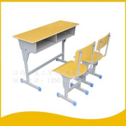 學生課桌椅  雙人單柱課桌 升降課桌椅 縮略圖