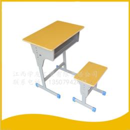 學生學校課桌椅單人單柱課桌升降課桌椅 縮略圖