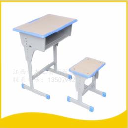 学生课桌椅单人单柱课桌升降课桌椅 缩略图