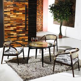 供应厂家直销3019 天然藤艺咖啡厅酒吧桌椅三件套组合