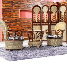 供应厂家直销3011 田园转椅藤椅茶几三件套