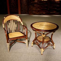 供应厂家直销3001 藤编休闲创意桌椅藤椅茶几