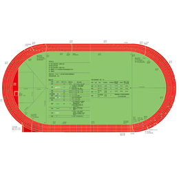 国际田联400米标准跑道记号平面图