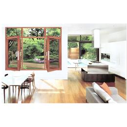 明业门窗  128窗纱一体  铝木窗缩略图