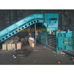 新疆高压强废纸箱打包机协力250型塑料瓶纸壳压块机