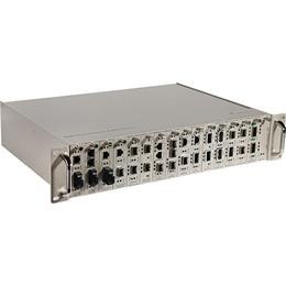 供应光纤收发器机架2U16槽光纤收发器机架迷你1U12槽机架