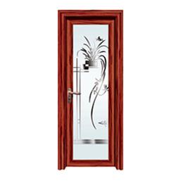 红酸枝铝合金平开门  卫生间门