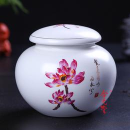 供应陶瓷罐一斤装蜂蜜陶瓷罐 防腐防潮陶瓷罐子