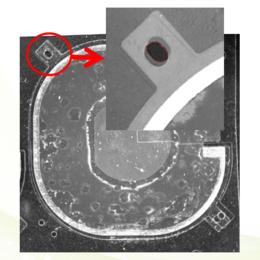 CCD陶瓷片外观缺陷检测表面划伤缺胶孔错位压痕异物残留