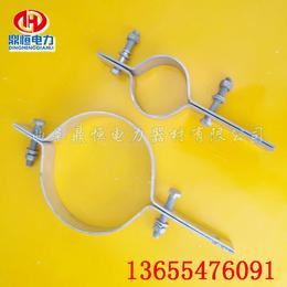 光缆金具  杆用抱箍   鼎恒电力供应热镀扁钢抱箍