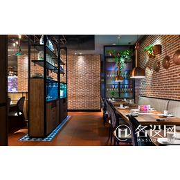 名设网餐饮空间设计案例_小型饭店设计效果图缩略图