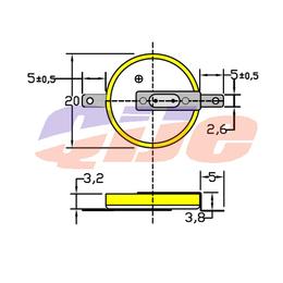 3V电池优质高容量CR2032锂电池插脚