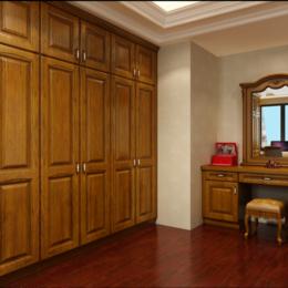 美式紅橡實木衣服柜子縮略圖