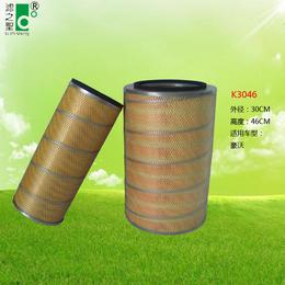滤之圣过滤器   空压机塑料机K3046 除尘滤芯滤筒