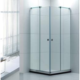 批发无框方型钢化玻璃简易淋浴房 WR003出口热销
