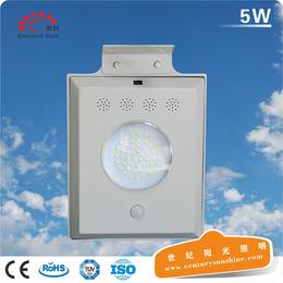 小型太阳能发电5w一体化太阳能庭院LED智能感应院墙灯