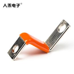 人禾RHI厂家定制生产折弯Z字镀锡导电浸塑绝缘铜排