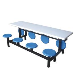 八位玻璃钢翻转圆凳餐桌