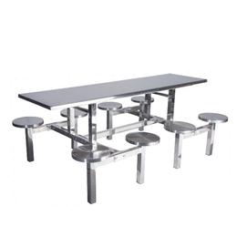 八位圆凳不锈钢餐桌缩略图