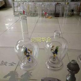 500ml耐热玻璃鸡酒瓶内置12生肖内套双层鸡玻璃酒瓶