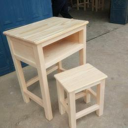 单人实木课桌椅 学校课桌椅缩略图