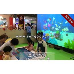 互动涂鸦-墙面互动投影游戏-涂色绘画游戏-创意绘画投影游戏