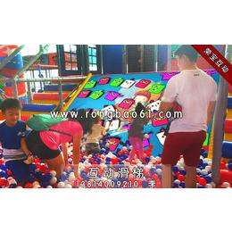 互动投影滑梯-儿童小滑梯-大型滑梯游戏