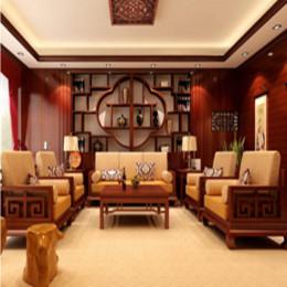 轩源红木室内精致工艺装饰样板房