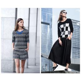 简欧式女装米珂拉品牌折扣货源时尚新款米珂拉秋冬女装库存供应