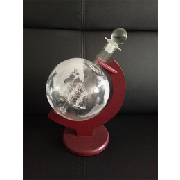 地球仪造型工艺玻璃酒瓶创意手工玻璃工艺酒瓶