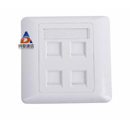 供应86型单口信息面板 网络面板 单双口面板 网络面板