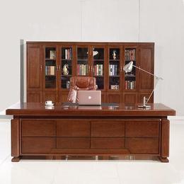 油漆贴实木木皮办公桌 老板桌经理桌主管环保大班台