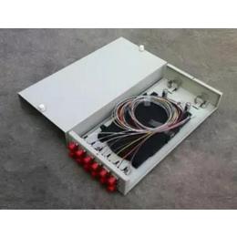 满配12芯光缆终端盒光纤熔接盒FC含法兰尾纤