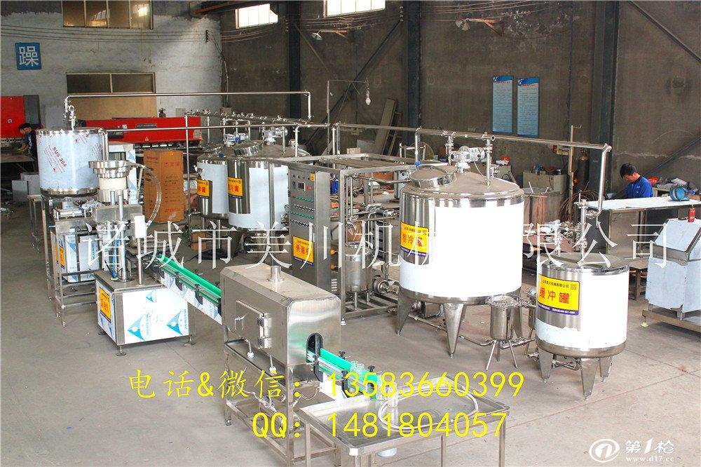 小型乳品加工厂设备 巴氏牛奶生产线 巴氏奶生产车间设备