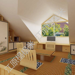 客厅效果图展示  各种榻榻米定制