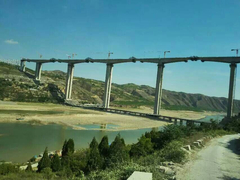 黄河第一高桥延延高速黄河特大桥