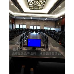 增城某工程会议项目83台19寸常规升降器配会议桌安装现场案列