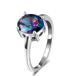 彩色锆石精美戒指 饰品工厂供应 厂家直销 精美礼物