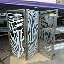 伟天盛供应不锈钢屏风玫瑰金激光焊接不锈钢屏风
