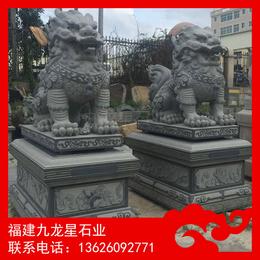 惠安石雕厂家出售花岗岩石麒麟 优质石雕麒麟加工