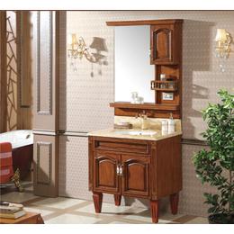 简欧式浴室柜红橡木仿古 落地开放漆雕花洗脸盆缩略图