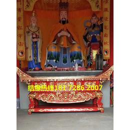 寺院供桌厂家寺庙供桌花梨木雕刻大供桌定做