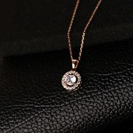 环保铜电镀玫瑰金碎骨链女式项链 润培饰品生产商供应 可定制