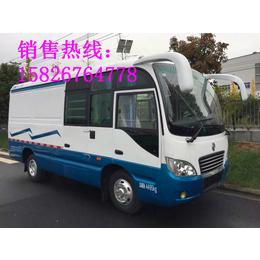 东风超龙7.5米大巴封闭式厢式货车图片配置参数国五价格