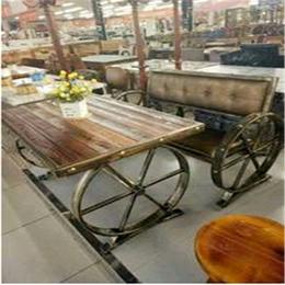 铁艺园背餐椅餐椅咖啡厅复古主题餐厅餐桌椅