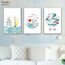 蘑菇堡 海洋鱼挂画装饰画缩略图
