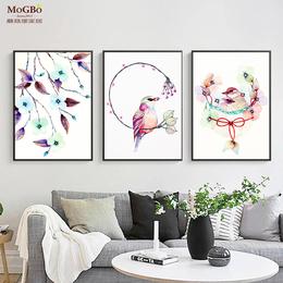 蘑菇堡 小鸟画装饰画