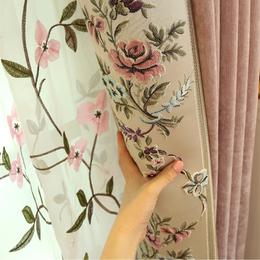 现代欧式田园客厅卧室飘窗落地窗窗帘