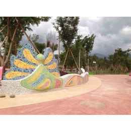 景德镇市申达陶瓷厂 (图)、陶瓷碎片拼花拼图、陶瓷碎片
